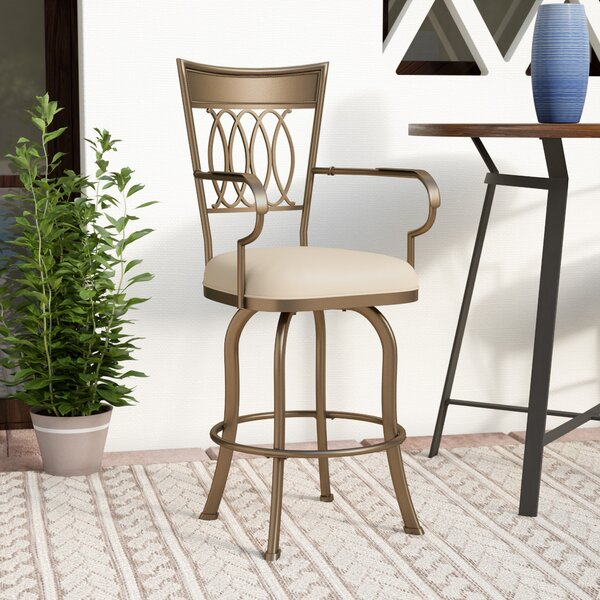 Grissom 26 Swivel Indoor/Outdoor Patio Bar Stool by Three Posts