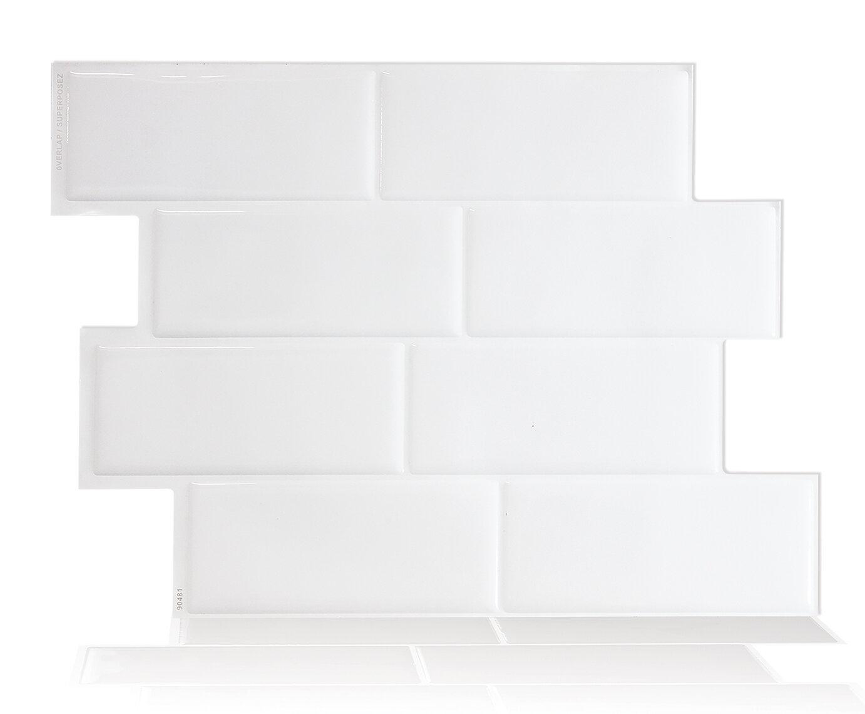 Smart Tiles 10,2 cm x 5,1 cm Mosaikfliesen-Set selbstklebend Metro ...
