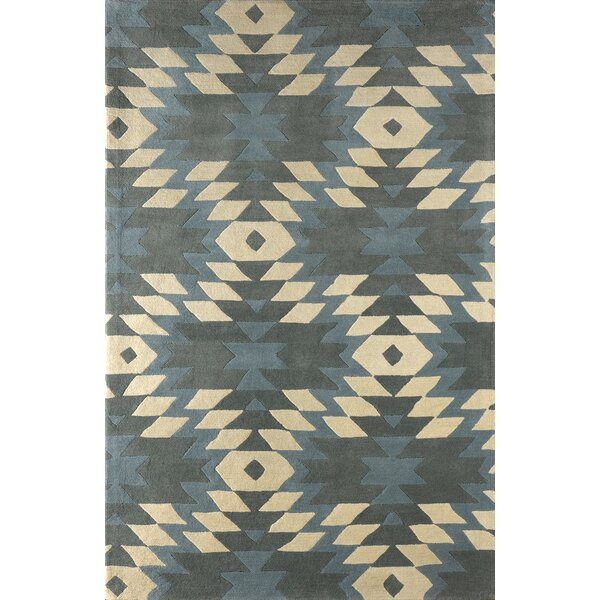 Alverstone Hand-Tufted Sky/Ivory Area Rug by Loon Peak