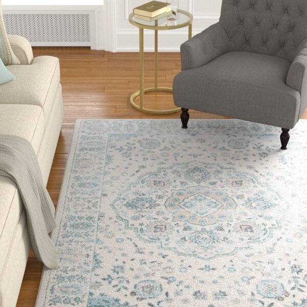 Batholo Blue/Ivory Area Rug by The Twillery Co.