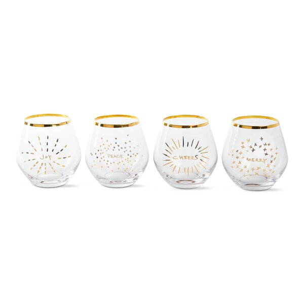 4-Piece 16 oz. Glass Cocktail Glass Set by TAG