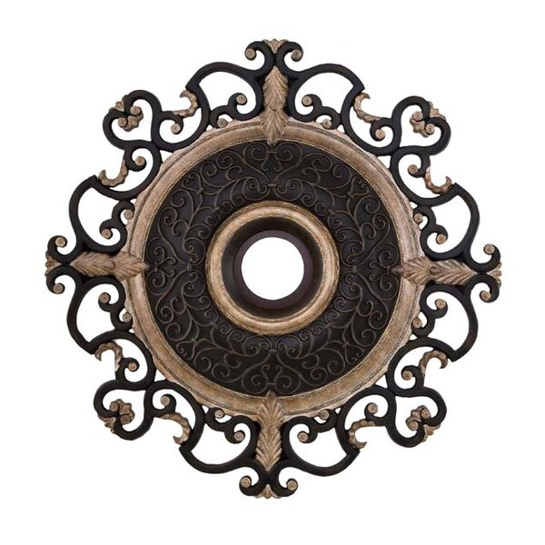 Napoli 38 Ceiling Medallion in Sterling Walnut by Minka Aire