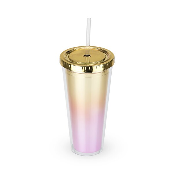 Ombre 24 oz. Plastic Travel Tumbler by Blush