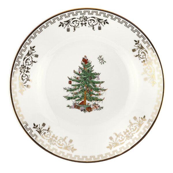 Christmas Tree Bread and Butter Plate (Set of 4) by Spode