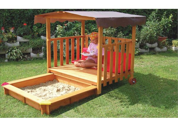 Playhouse Rectangular Sandbox with Cover by Exaco