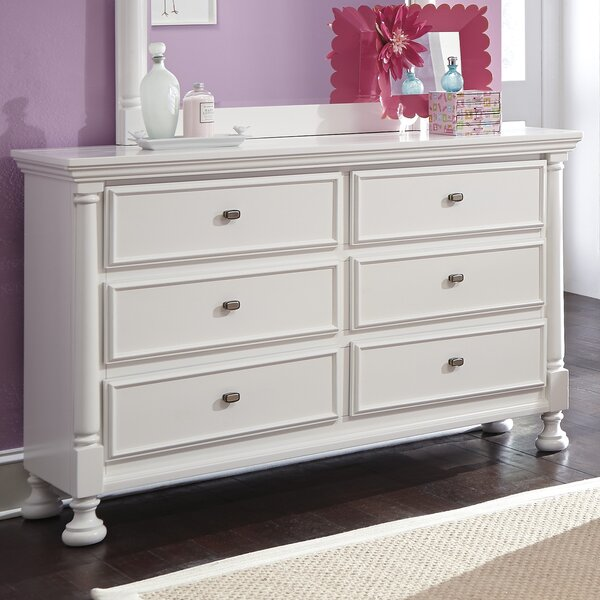 Jeffersonville 6 Drawer Double Dresser by Darby Home Co