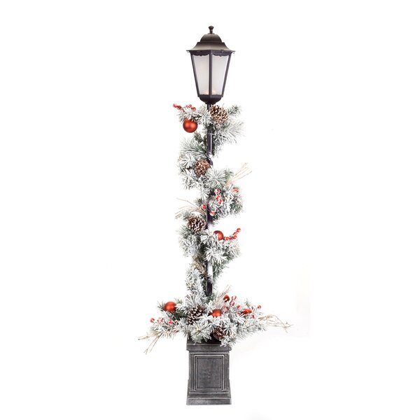 Ebony Pine Potted 60 Lamp Post by The Holiday Aisle