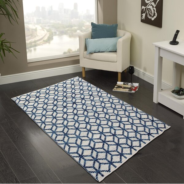 Hand-Woven Bristol Blue Area Rug by Cozy Home and Bath