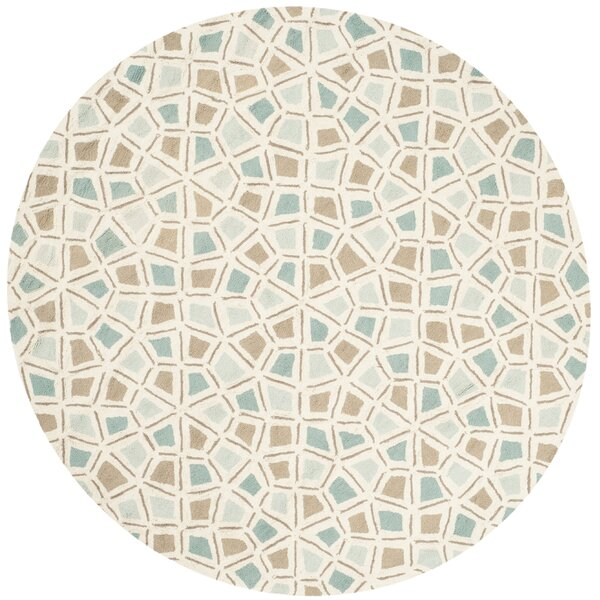 Spring Wheel Blue/Brown Area Rug by Martha Stewart Rugs