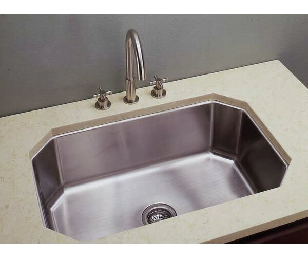 31 L x 10 W Undermount Kitchen Sink
