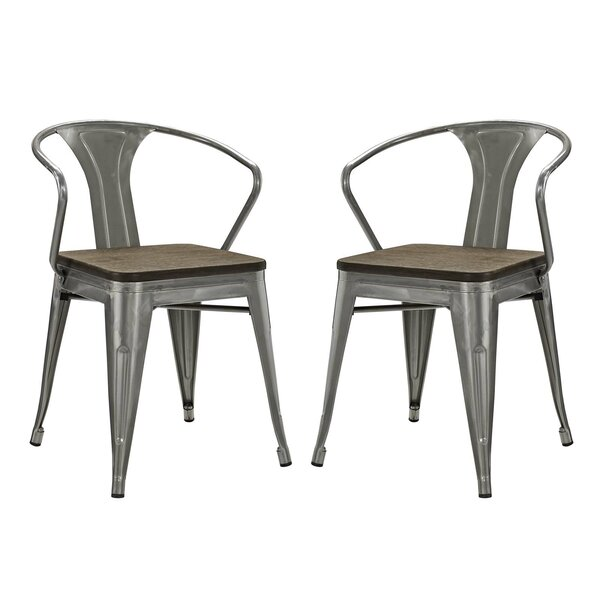 Ashlyn Metal Dining Chair (Set of 2) by Williston Forge