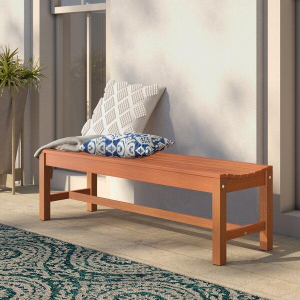 Hendon Wood Garden Bench by Mistana