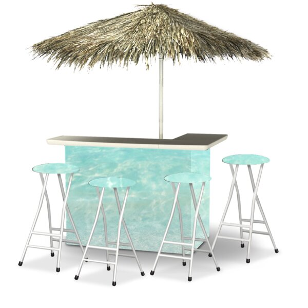 Wakefield 9 Piece Patio Bar Set by Bayou Breeze