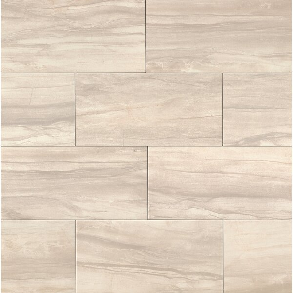 Athena 20 x 40 Porcelain Field Tile in Pearl by Bedrosians