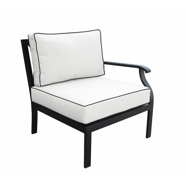 Madison Left Hand Patio Chair with cushions by kathy ireland Homes & Gardens by TK Classics kathy ireland Homes & Gardens by TK Classics