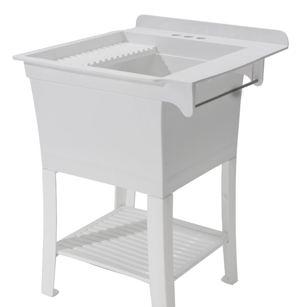 Maddox Workstation 25.4 x 25.8 Free Standing Laundry Sink by Cashel