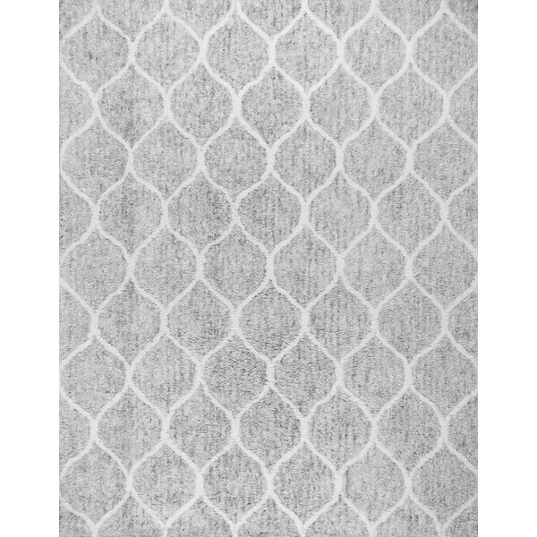 Paris Shag Moroccan Hand Woven Silver Area Rug by Pasargad