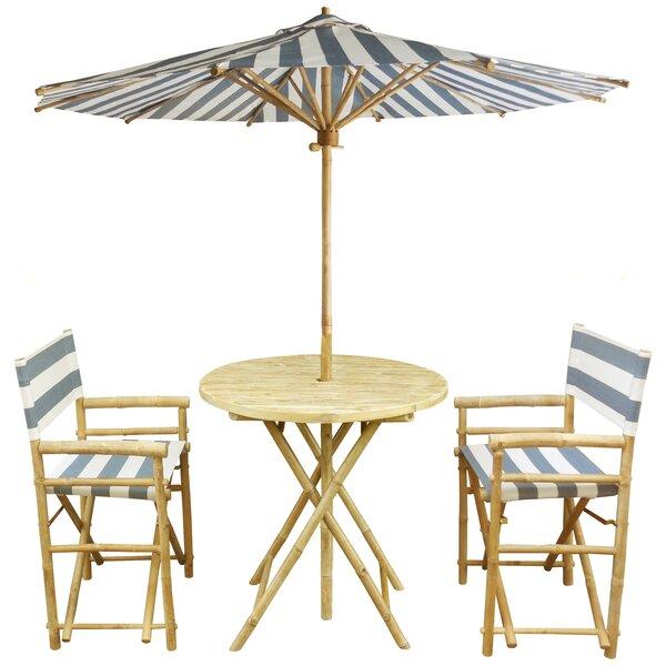 Sinta 3 Piece Bistro Set with Umbrella by Bay Isle Home Bay Isle Home