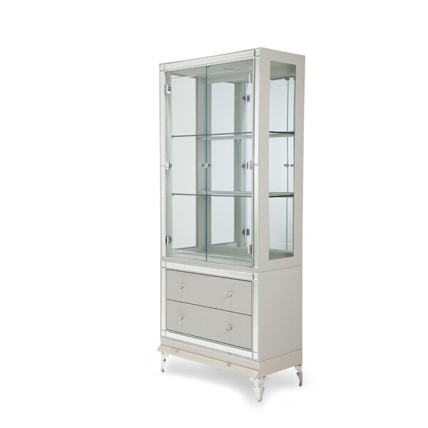 Hollywood Loft Lighted China Cabinet by Michael Amini