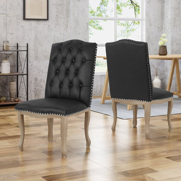 Arend Traditional Upholstered Dining Chair (Set of 2) by House of Hampton