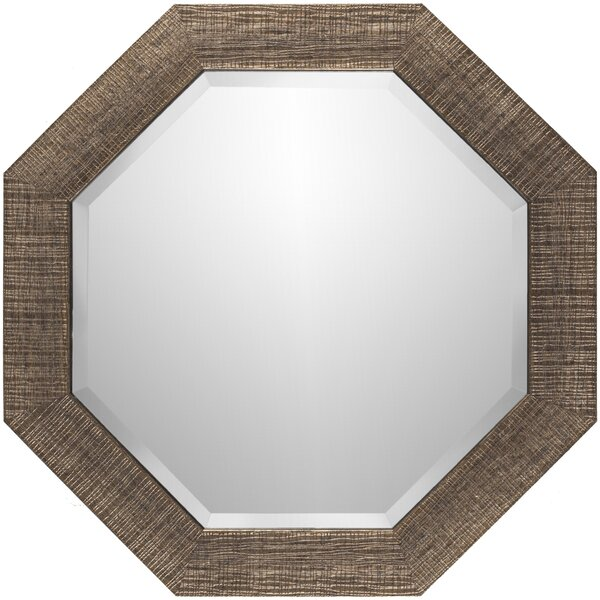 Brown Polystyrene Wall Mirror by Corrigan Studio
