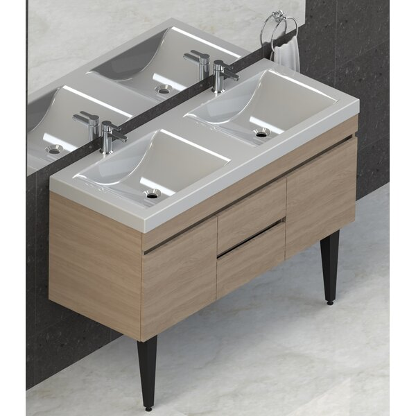 Byrns 48 Double Bathroom Vanity Set by Wrought Studio