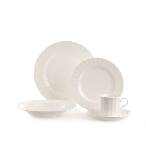 Yardley 20 Piece Dinnerware Set, Service for 4 by Red Vanilla
