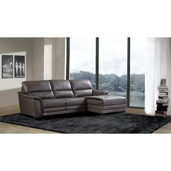 Online Shopping Shrum Leather Sectional by Brayden Studio by Brayden Studio