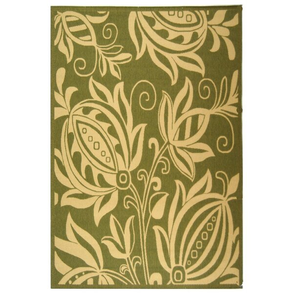 Wysocki Olive/Natural Indoor/Outdoor Area Rug by August Grove