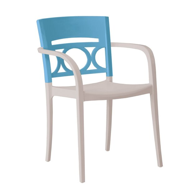 Vannest Stacking Patio Dining Chair (Set of 16) by Latitude Run Latitude Run