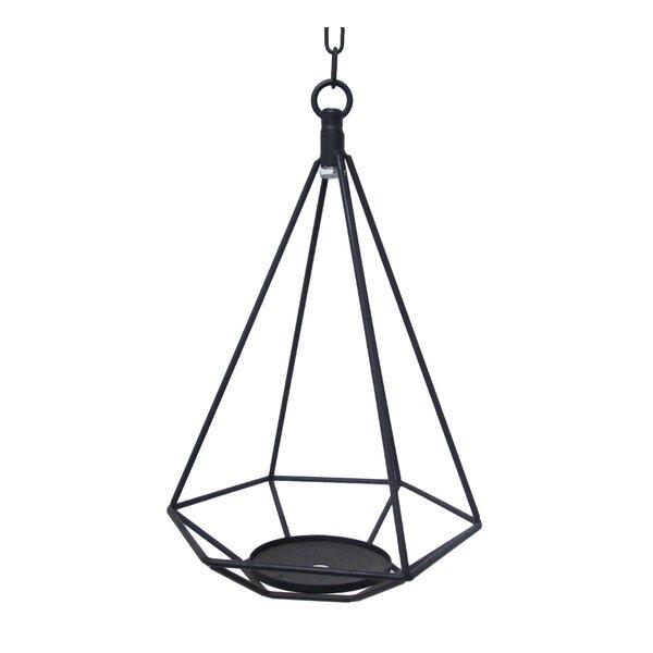 Hanging Geometric Metal Lantern by Wrought Studio