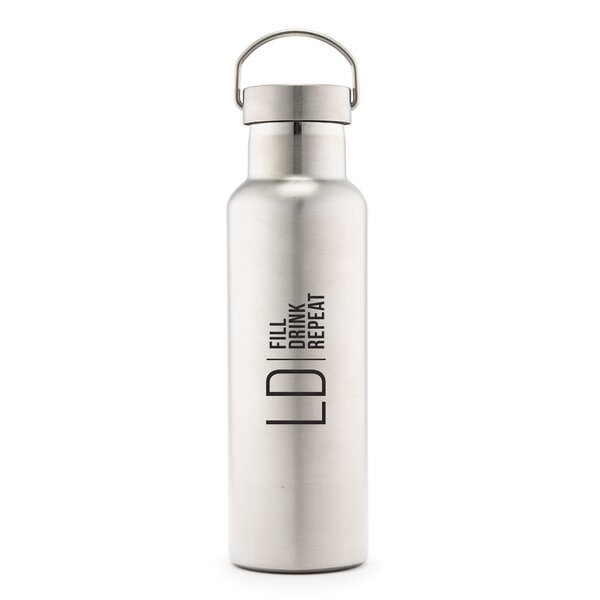 Sayles Modern Logo Print Personalized 25 oz. Stainless Steel Water Bottle by Ebern Designs