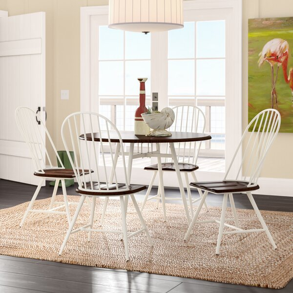 Rio Pinar 5 Piece Solid Wood Dining Set by Beachcrest Home Beachcrest Home