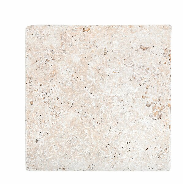 Tumbled 18 x 18 Travertine Field Tile in Ivory by Parvatile