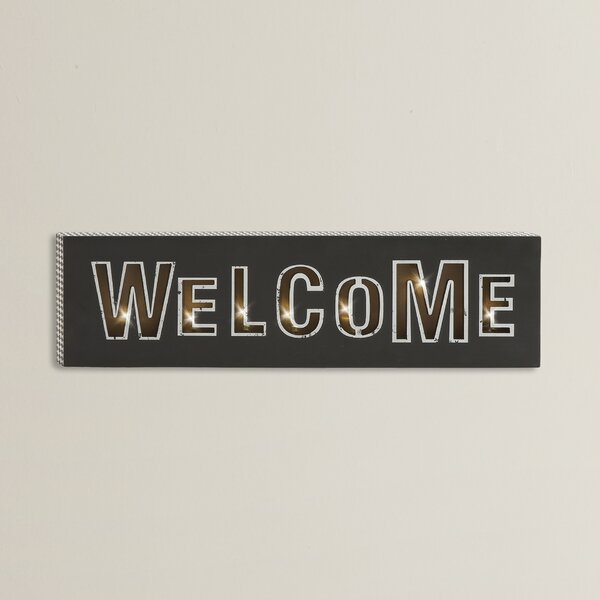 Attractive LED Welcome Sign Wall Décor by Wrought Studio