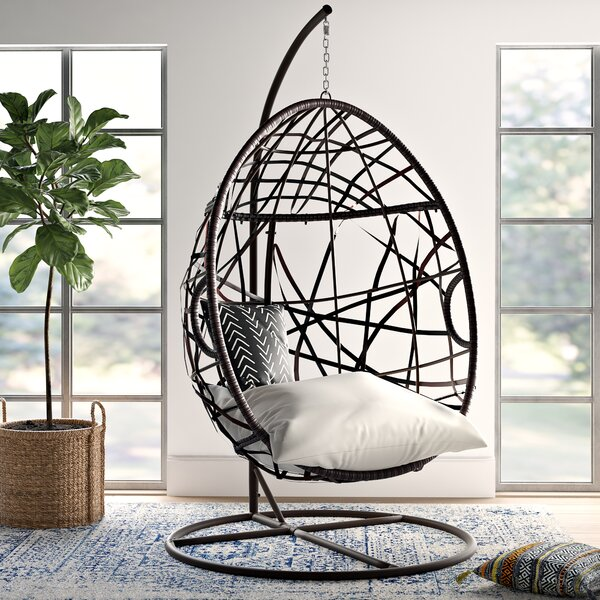 Anner Tear Drop Swing Chair With Stand By Mistana