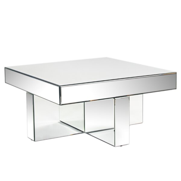 Lucy Mirrored Coffee Table by Mercer41 Mercer41