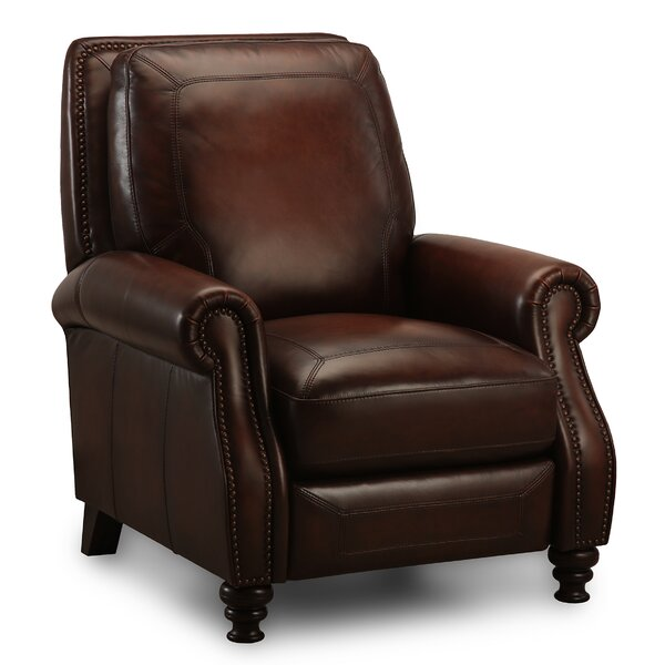Arledge Magaret Leather Push Back Recliner by Greyleigh