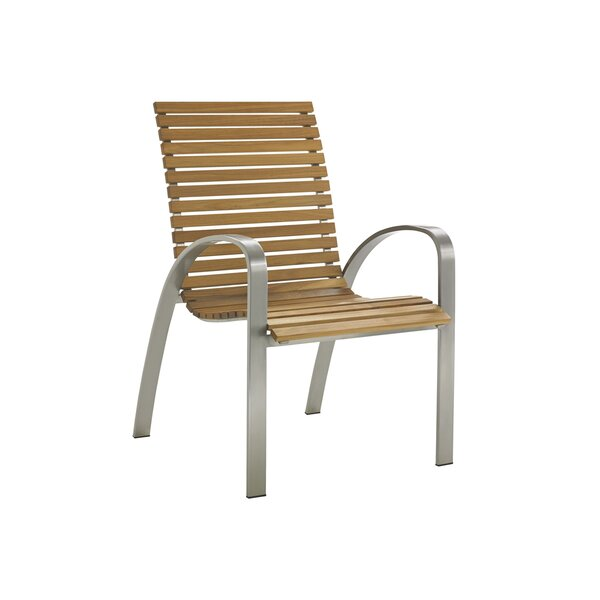 Tres Chic Stacking Patio Dining Chair by Tommy Bah