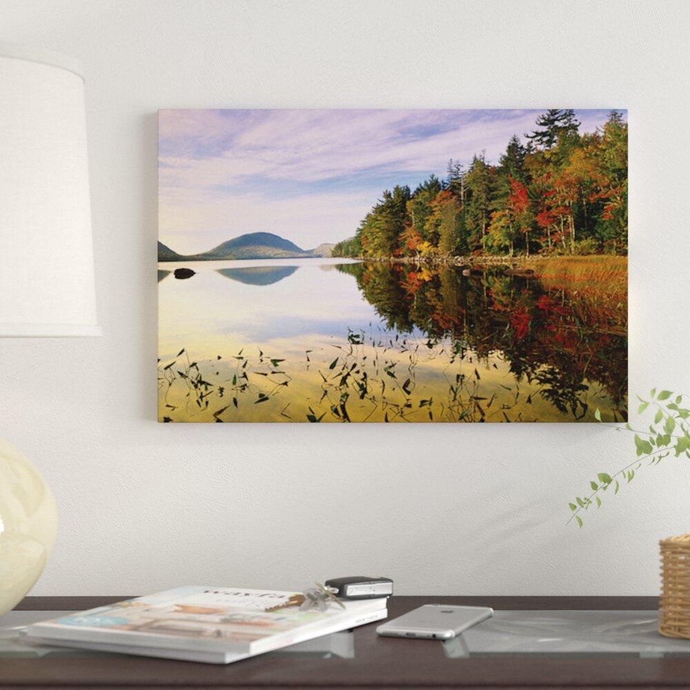 Ready to hang  Canvas Acadia mounted canvas National Park art