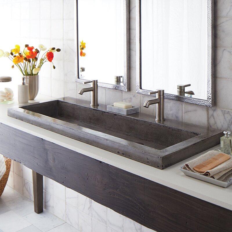 Bathroom Double Trough Sink | Wayfair