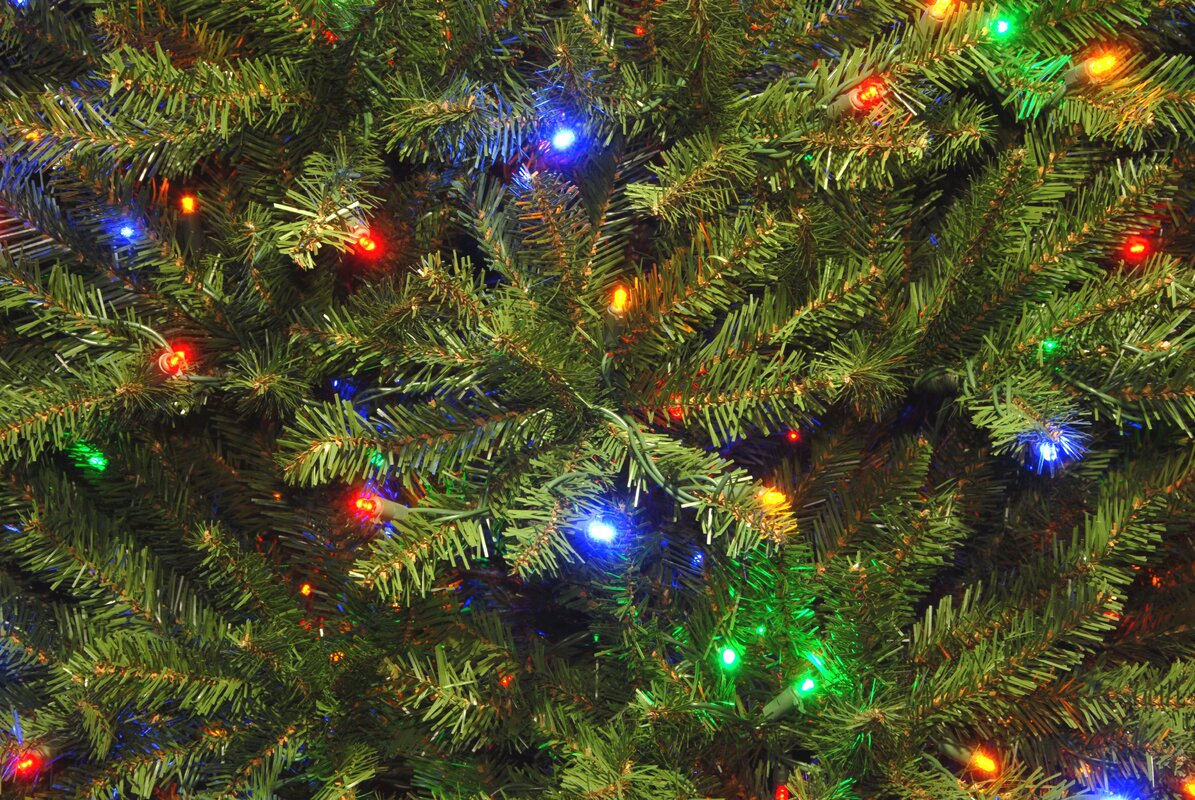 Three Posts Fir 9\' Hinged Green Artificial Christmas Tree with 900 ...