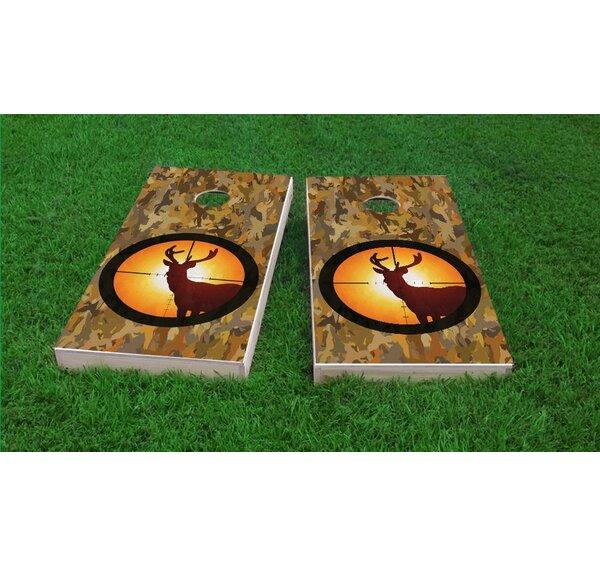 Camo Deer Hunter Cornhole Game Set by Custom Cornhole Boards