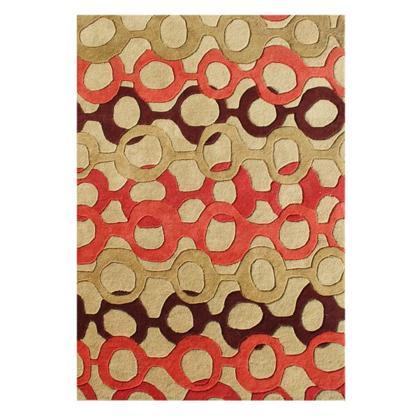 De Soto Hand-Tufted Russet Brown Area Rug by The Conestoga Trading Co.