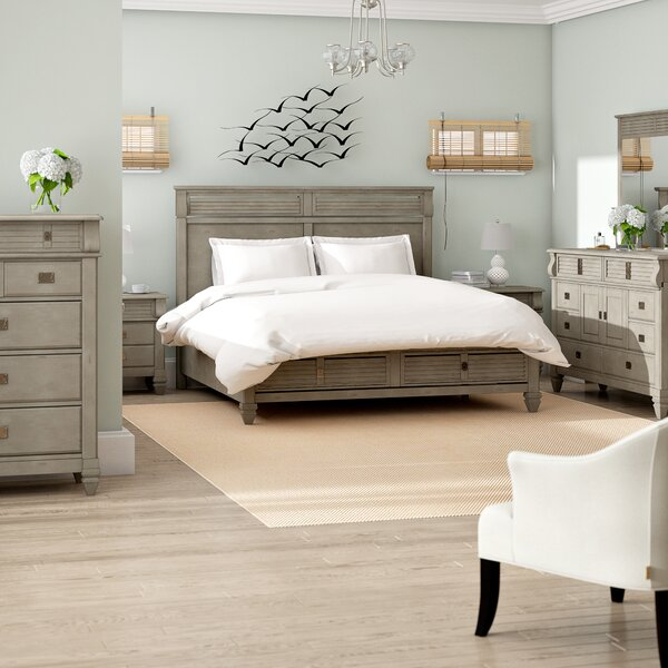 Vasilikos Solid Wood Construction Platform 6 Piece Bedroom Set by Beachcrest Home