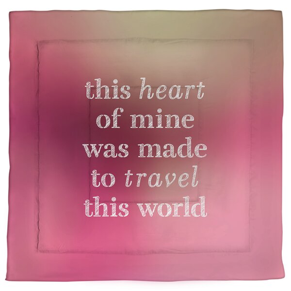 Travel Love Single ReversibleComforter