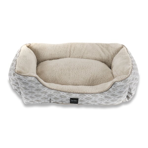 Diamond Bolster Dog Bed by Nicole Miller