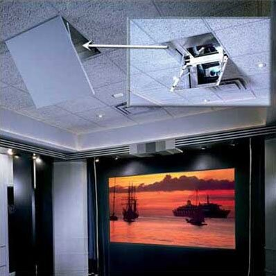 The Revelation Motorized Ceiling-Recessed Projector Mount by Draper
