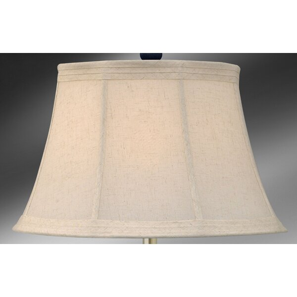 11.75 H x 19 W Linen Bell Lamp Shade ( Spider ) in Ecru (Set of 2)