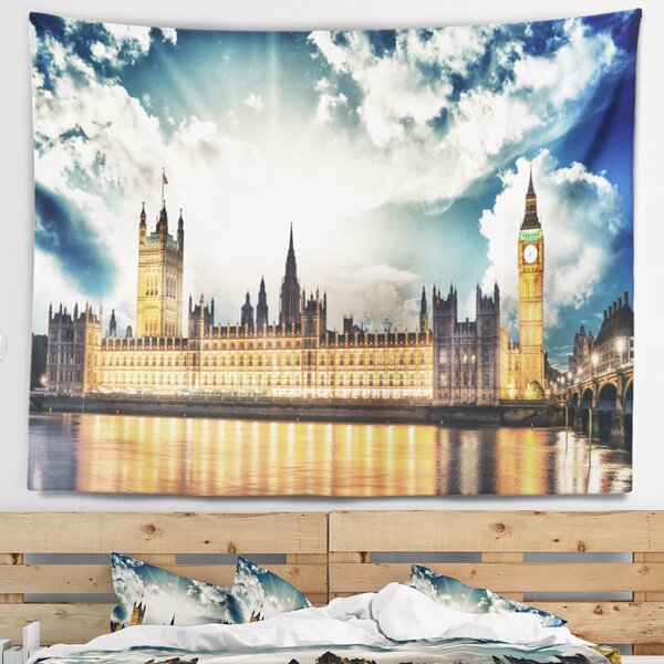 Big Ben UK and House of Parliament Tapestry and Wall Hanging by East Urban Home